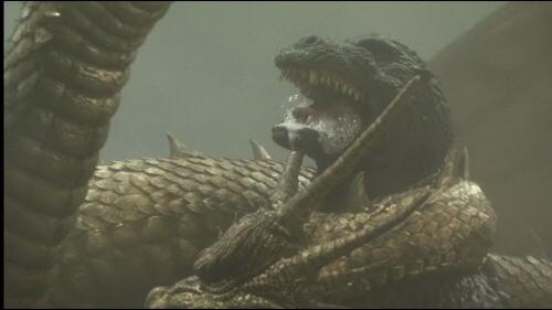 Godzilla & Ghidorah fight