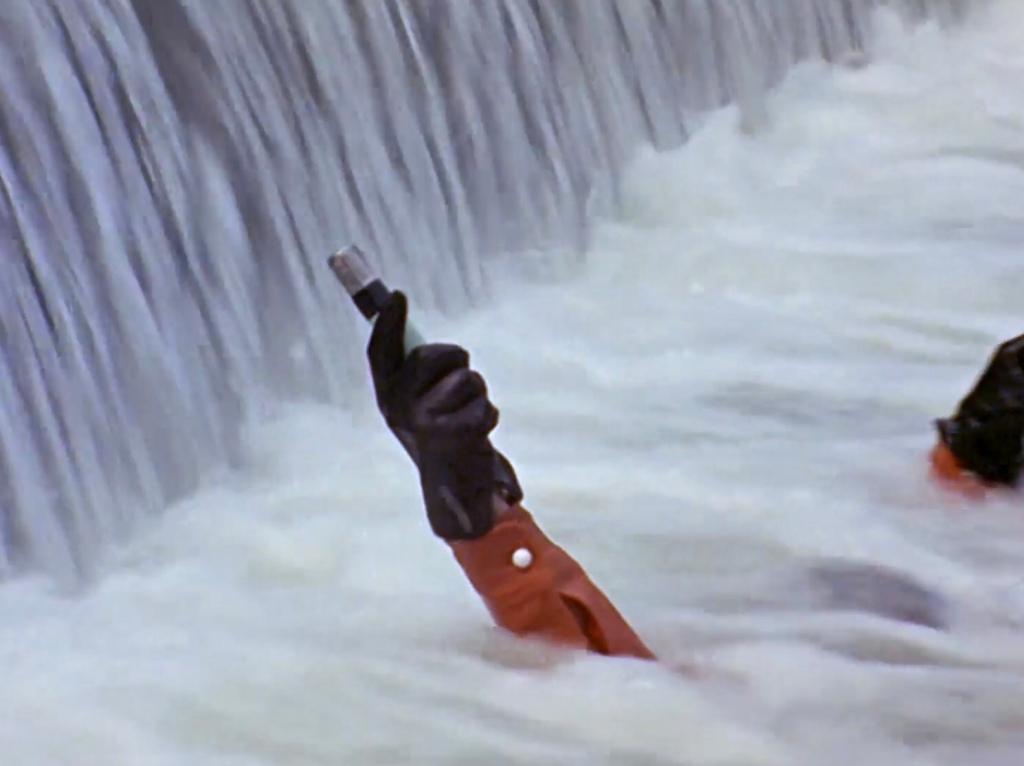 Hayata in the water